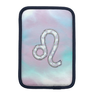 Leo Sign on Pastels Nacre Mother of Pearl Style Sleeve For iPad Mini