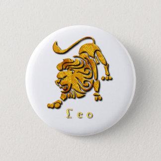 Leo Sign Round Pin
