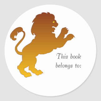 Leo Silhouette Bookplate Stickers