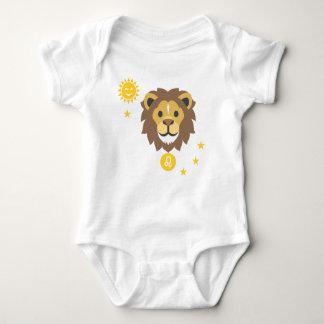 Leo smiling lion baby bodysuit - zodiac star sign
