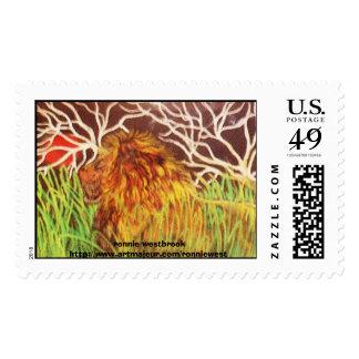 Leo solo sellos postales