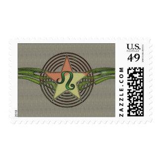 Leo Star Postage Stamp