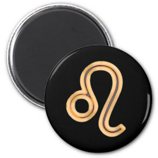 Leo Star Sign Symbol 2 Inch Round Magnet
