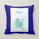 Leo star sign zodiac sign July 23 - August 22 Throw Pillow