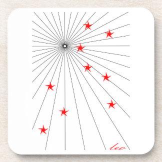 Leo Starburst Zodiac Coaster