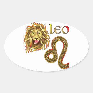 Leo Oval Stickers