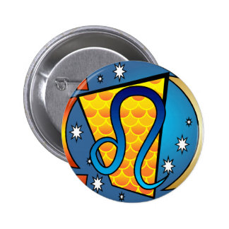 Leo Symbol 2 Inch Round Button