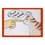 Leo The Cat - Just Can't Resist greeting card