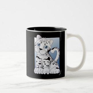 Leo the Leopard Two-Tone Coffee Mug