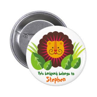 leo, the lion 2 inch round button