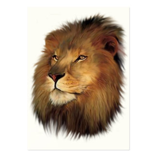 Leo the Lion ACEO Art Trading Cards Large Business Card