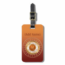 LEO - The Lion Astrological Sign Bag Tag