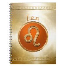 Leo | The Lion Astrological Symbol Spiral Notebook
