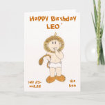 LEO the lion birthday card by Zodibabies