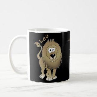 Leo the Lion cartoon with Leo traits. Coffee Mug