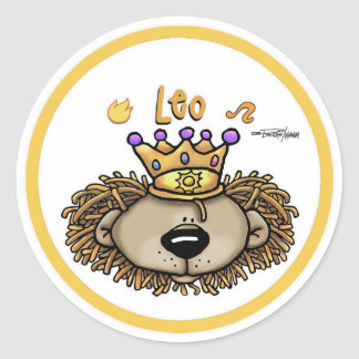 Leo - The Lion Classic Round Sticker