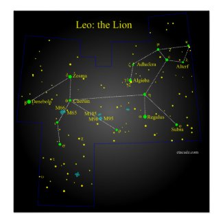 Leo The Lion Constellation Posters