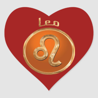 Leo - The Lion Heart Sticker