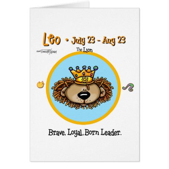 Leo the Lion - Horoscope Card
