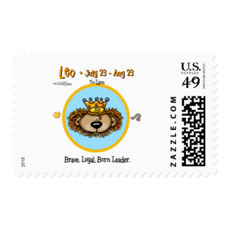 Leo the Lion - Horoscope Stamps
