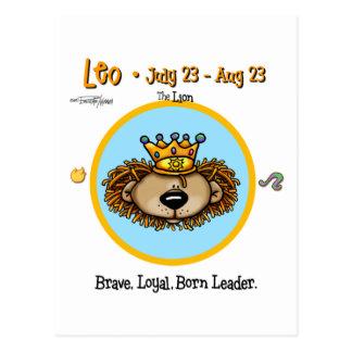 Leo the Lion - Horoscope Postcard