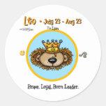 Leo the Lion - Horoscope Round Sticker