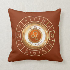 LEO - The Lion Horoscope Symbol Throw Pillow
