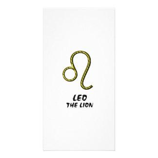 Leo the lion photo card