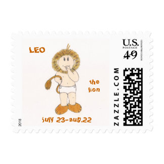 LEO the lion postage stamps by Zodibabies