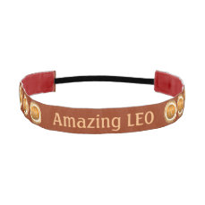 LEO - The Lion Zodiac Sign Athletic Headband