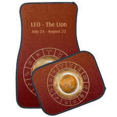 LEO - The Lion Zodiac Sign Car Floor Mat