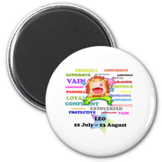 Leo, the Lion,  Zodiac Sign Custom Astrology Gifts Magnet