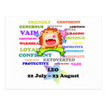 Leo, the Lion,  Zodiac Sign Custom Astrology Gifts Postcards