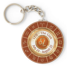 LEO - The Lion Zodiac Sign Keychain