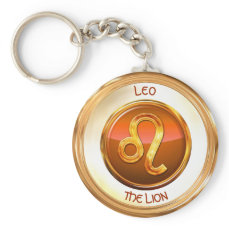 Leo - The Lion Zodiac Sign Keychain