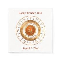 LEO - The Lion Zodiac Sign Napkin