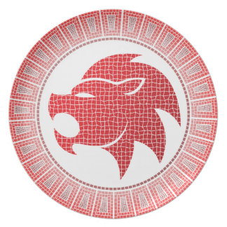 Leo the Lion Zodiac Sign Plate