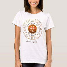 Leo - The Lion Zodiac Sign T-Shirt