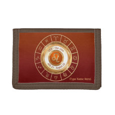 LEO - The Lion Zodiac Sign Trifold Wallet