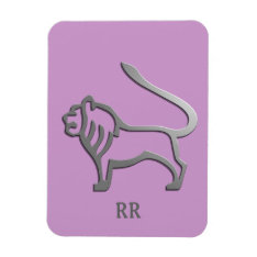 Leo The Lion Zodiac Star Sign Magnet at Zazzle