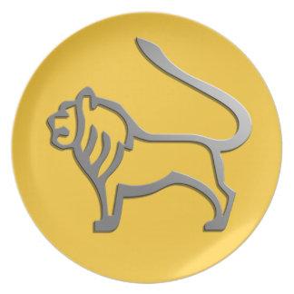 Leo The Lion Zodiac Star Sign Plate