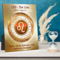 LEO - The Lion's Zodiac Sign Personality Traits Plaque