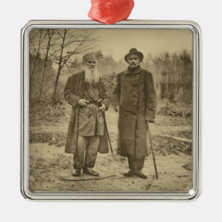 Leo Tolstoy and the author Maxim Gorky Metal Ornament