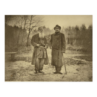 Leo Tolstoy and the author Maxim Gorky Postcard