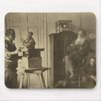 Leo Tolstoy and the sculptor Prince Paolo Mousepads