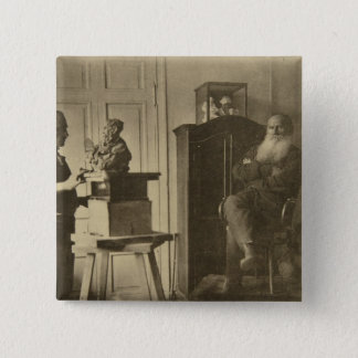Leo Tolstoy and the sculptor Prince Paolo Pinback Button