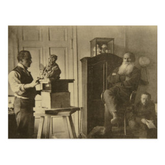 Leo Tolstoy and the sculptor Prince Paolo Postcard