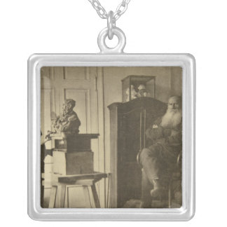 Leo Tolstoy and the sculptor Prince Paolo Silver Plated Necklace