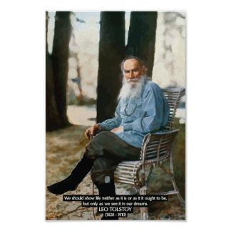 Leo Tolstoy 'Dreams' Quote Poster