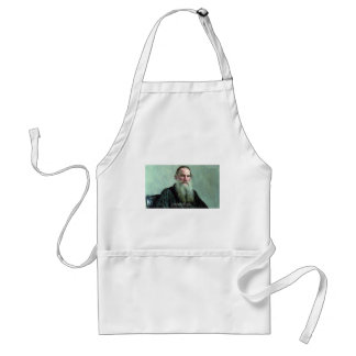 """Leo Tolstoy """"Know Nothing"""" Quote GIfts Tees Cards Adult Apron"""